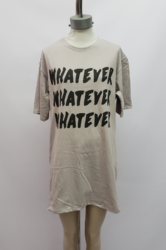 "AW21 - 10053 - Remeron algodon mc estampado ""whatever"" en internet"