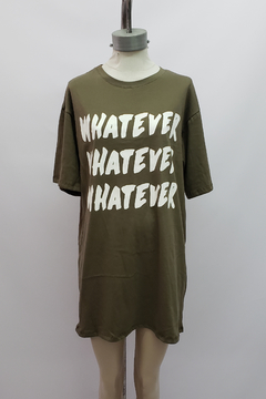 "AW21 - 10053 - Remeron algodon mc estampado ""whatever"" - Bluming"