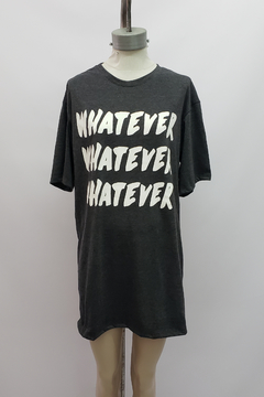 "AW21 - 10053 - Remeron algodon mc estampado ""whatever"""