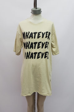 "Imagen de AW21 - 10053 - Remeron algodon mc estampado ""whatever"""