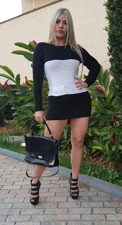 Dress Black White de linha