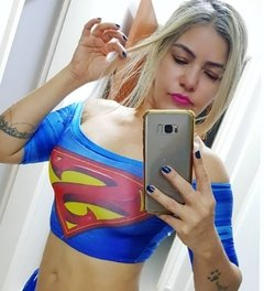 Cropped digital super girl ciganinha