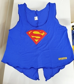 Cropped Bordado Supergirl azul Royal - comprar online