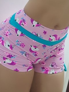 Short plush up franzido no bumbum/ unicórnio fashion - comprar online