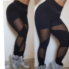 Legging recortes tule na internet