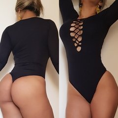 Body manga longa  Black Paris