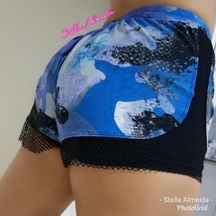 Short camuflado Blue