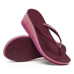 Chinelo Fem. Havaianas High Fashion Bordo Coleção 2020