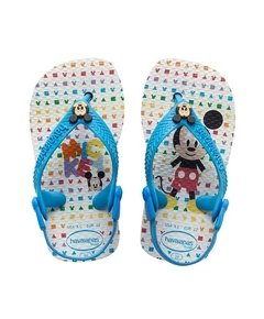 Chinelo Havaianas Baby Mickey Branco Turques 25/26 - Disney