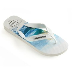 Chinelo Havaianas Masculina Surf Branco Agua Colecao 2019 - comprar online