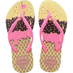 Chinelo Havaianas Kids Slim Pop Rose Gold Original