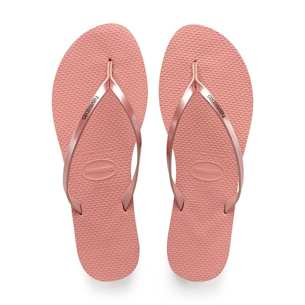 a9d5005808d0 Chinelo Havaianas Feminino You Metallic Nude Rosa Original