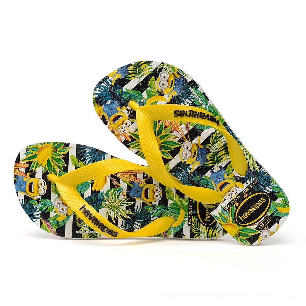 aa085cbefd Chinelo Havaianas Minions Amarelo Citrico - Colecao 2019
