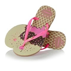Chinelo Havaianas Kids Slim Pop Rose Gold Original na internet