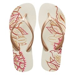 Chinelo Havaianas Feminino High Light Bco Rose Gold Tamanco