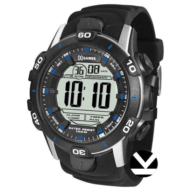 b6a55244ecb Relógio Masculino X-games Digital Xmppd457 Bxpx Preto Prata Azul