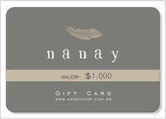 Gift Cards Nanay - comprar online