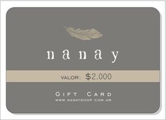 Gift Cards Nanay - Nanay «Handmade with care»