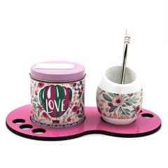 MINI SET INDIVIDUAL GLOBO LOVE