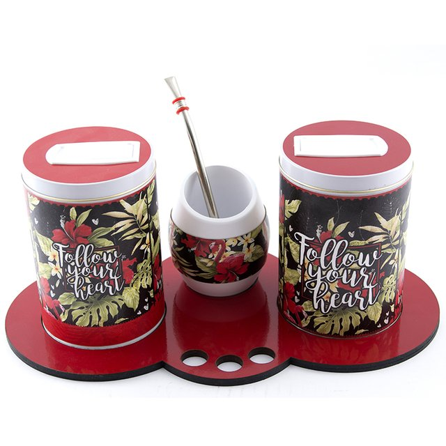 MINI SET DE MATE 2 LATAS HEART