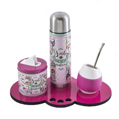 MINI SET MATERO CON TERMO SMILE