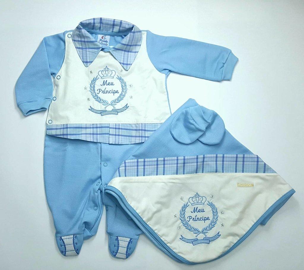 6cdf256e022d Saída de Maternidade Menino - BEBÊ PANDA KIDS