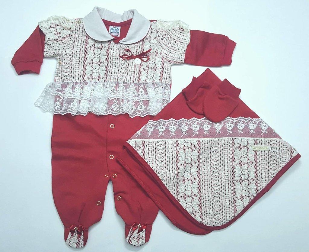 42684ec4c712 Saída de Maternidade Menina - BEBÊ PANDA KIDS