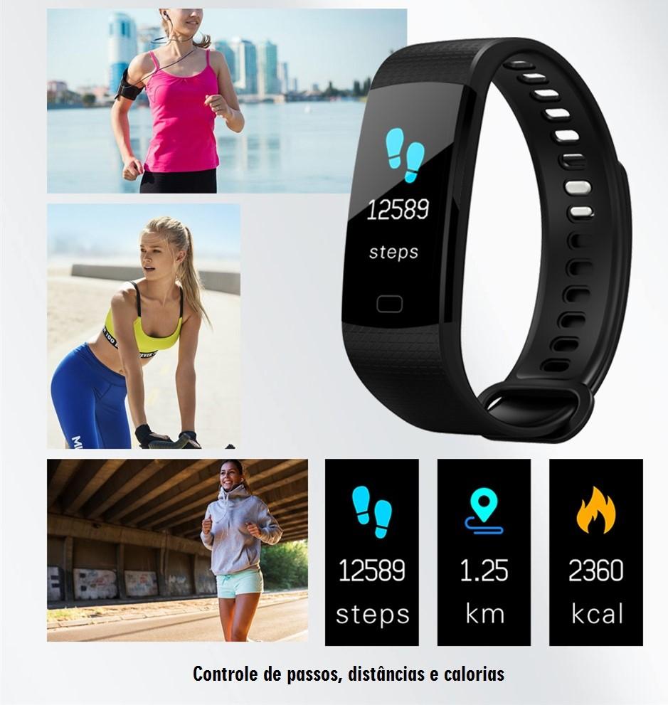 Relógio Smartwatch Pulseira Inteligente F4s Color - AB Panda Store