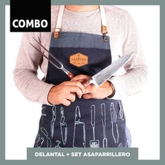 DELANTAL + SET ASAPARRILLERO