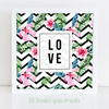 Quadro Tropical Love