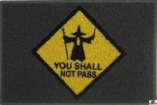 Tapetes Capachos You Shall Not Pass - Bo......