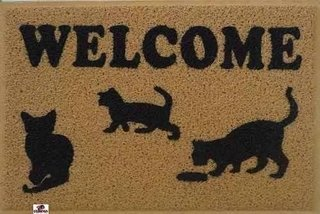 Tapete Capacho Personalizado Welcome Gat......