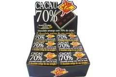 Chocolate 70% Cacau Natural 14g Doce Vida Display 24 un
