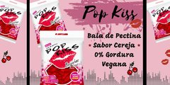 Pop Kiss - Balas de Pectina - Cereja