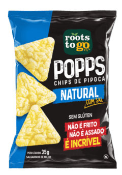 Chips de Pipoca - Popps Queijo Nacho Roots To Go - Hunger.Fit