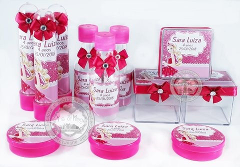 Kit Infantil Personalizado Barbie e as Sapatilhas Magicas