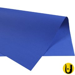 10 Folhas Papel Color Set 120gr Papelaria Arte Escolar Azul Royal