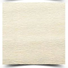 5 Rolos Papel Crepom Italiano Sólido Rossi 50 Cm. X 2,5 Mts Creme