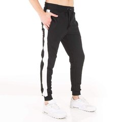 Jogger Slim Fit Negro Stripes Frente