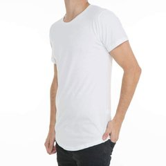 Remera Long Fit Blanca Frente