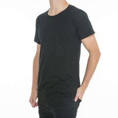 Remera Long Fit Negra Frente
