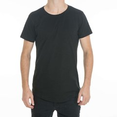 Remera Long Fit Negra Frente #2