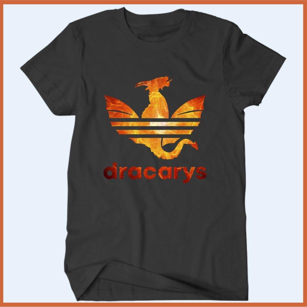 venganza Perezoso Depresión  Camiseta Dracarys Adidas Fogo - Camisetas Rápido Shop