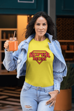 Camiseta Super mom - Camisetas Rápido Shop