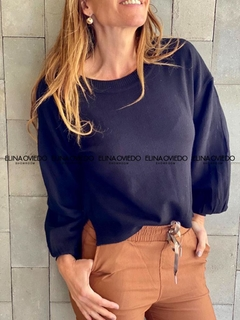 SWEATER MANGA VOLADOS GLOBO (5068) - ELINA OVIEDO SHOWROOM