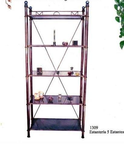 Estanter a de 5 estantes en hierro forjado - Estanterias hierro forjado ...