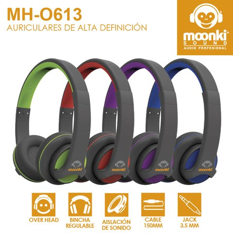Auricular Vincha On Ear Moonki Sound Colores Mh-o613