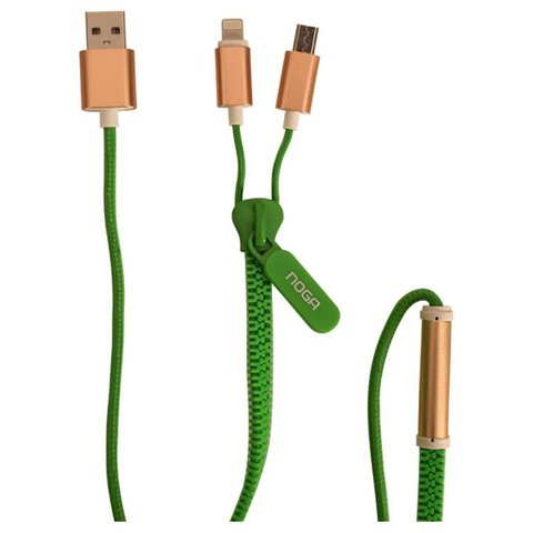 CABLE ZIPPER USB A MICRO USB Y IPHONE NOGANET USB-Z09 - tienda online