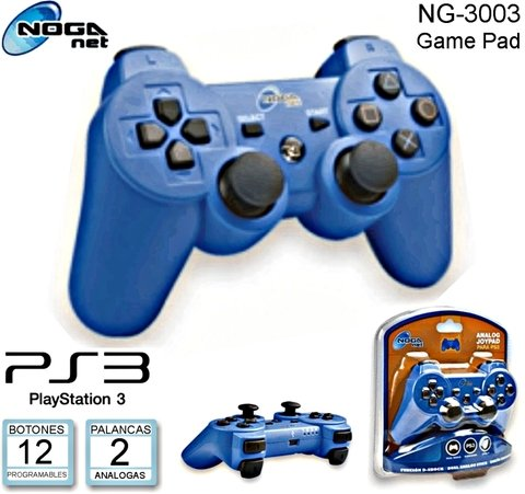 JOYSTICK INALAMBRICO NOGA NET PS3 PS2 PC NG-3093 AZUL