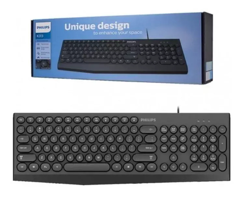 Teclado Multimedia Usb Philips K313 Compacto